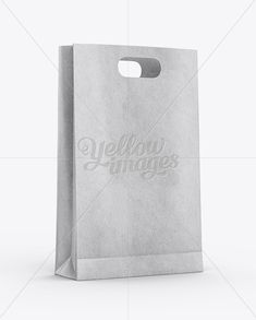 Kraft Paper Bag Mockup - Half Side View