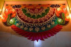 Rangoli design.. Happy diwali ☺🙂 Happy Diwali Rangoli, Easy Rangoli Designs Diwali, Indian Rangoli Designs, Rangoli Designs Latest, Rangoli Border Designs, Colorful Rangoli Designs, Rangoli Designs Images, Rangoli Ideas, Beautiful Rangoli Designs