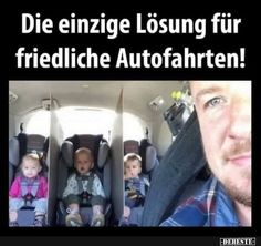 The only solution for peaceful car rides - Schwanger sprüche - Best Humor Funny Really Funny, Funny Cute, Videos Funny, Funny Animal Videos, Funny Jokes For Kids, Parenting Humor, Work Humor, Funny Fails, Funny Moments