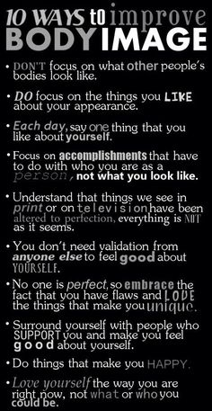 Social Work. Improve body Image. Self esteem.