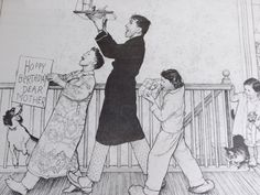 Norman Rockwell original pencil drawing vintage by HuntWithJoy