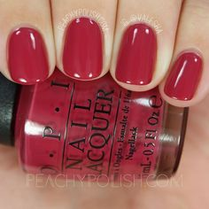 OPI: Fall 2016 Washington D.C. Collection Swatches & Review OPI By Popular Vote is a red-toned rosey dark pink. 2 coats.