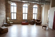 Studio envy!!  What a fabulously large space and with such gorgeous windows!