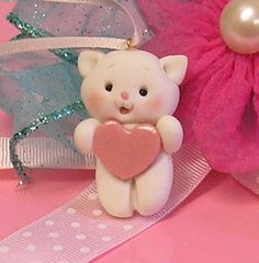 kitty with heart figurines - inspiration only - bjl