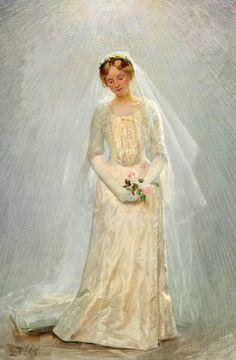 Portrait of a Brideby Laurits Tuxen