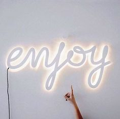 This Pin was discovered by Property24. Discover (and save!) your own Pins on Pinterest. Best Instagram Quotes, Neon Word Lights, White Qoutes, Enjoy Quotes, Me Quotes, Neon Signs Quotes, Enjoy Your Weekend, Happy Weekend, Light Words
