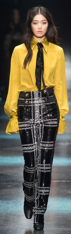 Roberto Cavalli Fall 2015 women fashion outfit clothing style apparel @roressclothes closet ideas