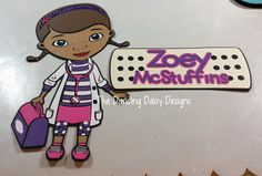 Doc McStuffins with Custom Title - Disney theme Die cuts for scrapbooking paper piecing