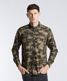 Carhartt Long Sleeve Camo Painted Shirt