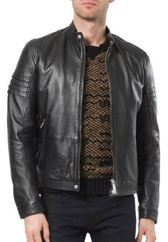 46e394351270 New Leather Men s Jacket Motorcycle Real skin Vintage Biker Slim Fit Coat