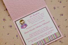 Invitaciones para Bautizos  Bautizo de María Claudia