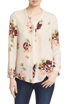 Free shipping and returns on Joie 'Devitri' Floral Print Silk Blouse at Nordstrom.com. An artful floral print and soft silken fabric elevate a band-collar…