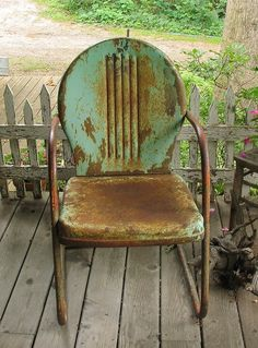 Back porch chair reminds me of may grandma s porch such sweet memoriesPin by SISTERS ANTIQUES   Patty Green on Motel Chairs  Some Are  . Antique Motel Chairs. Home Design Ideas