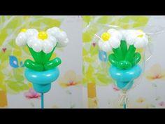 023 Balloon Stick - Small Balloon Bouquet (벌룬스틱 꽃 화분) - YouTube