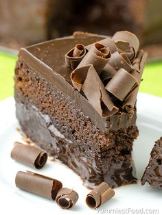 CHOCOLATE, CHOCOLATE CAKE - This decadent chocolate dessert is rich, moist and it is only chocolate cake recipe you will ever need!