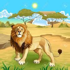 Resultado de imagen para paisaje con leones dibujos a color
