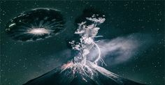 Are erupting volcanoes summoning UFOs?