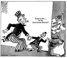 Seuss - Theodor Geisel World War II Political Cartoons Political Satire Cartoons, 8th Grade History, Satirical Illustrations, Propaganda Art, Famous Books, Funny Cartoons, World War Two, Vintage Posters, Wwii