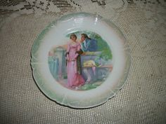 Bavaria Germany courting couple portrait plate by FabulousFinds1, $9.99