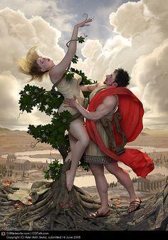 Title: Daphne & Appolo |  Artist: Adel Adili (leda) |  Country: Iran…
