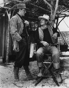 John Wayne and his protege, James Arness (Matt Dillon on GUNSMOKE), share the same birthday. Arness appeared in four films with The Duke, including BIG JIM McLAIN and HONDO.