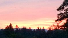 Fire line sunset Eiler fire NorCal 2014