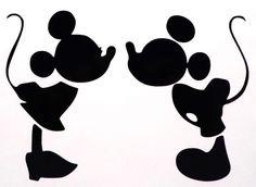 ミッキーとミニーがチューしているシルエット 会場装花 Pinterest Minnie Mouse