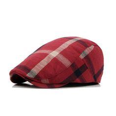 Junson Lovely British Retro mesh Plaid Beret Female Elegant Ladies Fashion Octagonal hat Painter hat for Winter