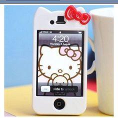 Hello kitty phone case: Sheek !