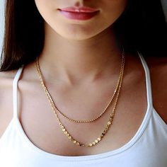 Gold Layered Necklace, Multi Chain Necklace, Birthday Gifts For Her Gold Coin Necklace, Gold Plated Necklace, Hamsa Necklace, Disc Necklace, Pendant Necklace, Tassel Necklace, Gold Chains For Men, Simple Necklace, Layered Necklace