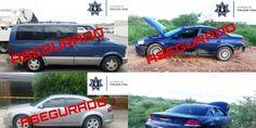 Agentes de la Policía Vial recuperaron tres vehículos robados durante el fin de semana