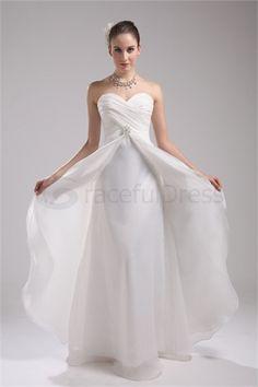 A-Line Sweetheart Floor-length Organza Wedding Dress http://www.GracefulDress.com/A-Line-Sweetheart-Floor-length-Organza-Wedding-Dress-p19544.html