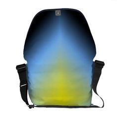 Custom Yellow and Blue Abstract Messenger Bag Messenger Bags