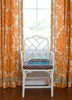 Love the double row of blue ribbon/tape.  Palmer Weiss | Portfolio | San Francisco Interior Design
