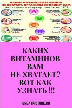 Каких витаминов вам не хватает? Вот как узнать !!! Если вы чувствуете недомогание, апатию или нервозность, не спешите идти за антидепрессантами! Возможно, у вас просто недостаток витаминов. Каких? Читайте ниже.  #красота  #самоеинтересное  #советы #здоровье