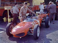 Spa 1962 . Baghetti and Rodriguez ´ Ferrari 156.