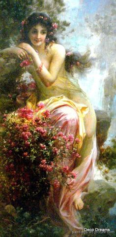 This is one of Hans Zatzka's Paintings. It shows great beauty, inside and outside. Some other emotions are depicted in this painting too.