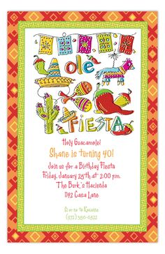 Fiesta Icons Invitation from The Rosanne Beck Collection