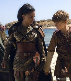 "Aishwarya Rai with Thomas Sangster, ""The Last Legion"", 2007 #armor"