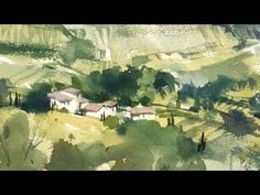 "Advancing with Watercolor - Working on Location ""Dei Loggia"" - YouTube"