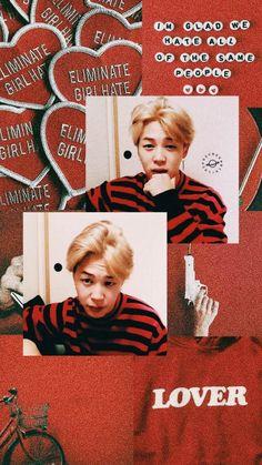 Cover Wallpaper, Jimin Wallpaper, Red Wallpaper, Locked Wallpaper, Aesthetic Themes, Aesthetic Collage, Red Aesthetic, Kpop Aesthetic, Theme Background