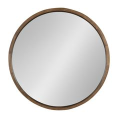 Kate and Laurel Hutton Round Decorative Wood Frame Wall Mirror : Target Wood Framed Mirror, Round Wall Mirror, Wall Mounted Mirror, Wood Wall, Interior Design Pictures, Target Home Decor, Frames On Wall, The Help, Home Accessories