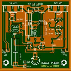 power amplifier transistor 75 Watt PCB & Layout Electronics Mini Projects, Hobby Electronics, Electronics Components, Electronics Gadgets, Hifi Amplifier, Audiophile, Waves Audio, Automatic Battery Charger, Electronic Schematics