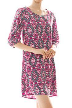 Brocade Print Shift Dress