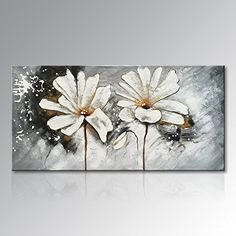 Hand Painted White Flower Oil Painting on Canvas Large Abstract Wall Art Modern Floral Decor Contemporary Artwork For Living Room * You can get more details by clicking on the image. (This is an affiliate link) Large Abstract Wall Art, Floral Wall Art, Abstract Canvas, Buddha Painting, Oil Painting On Canvas, Oil Painting Flowers, Flower Canvas, Flower Oil, Contemporary Artwork