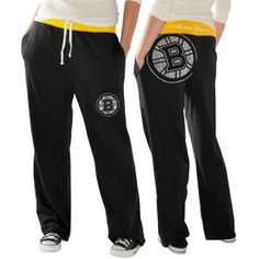 Boston Bruins Ladies Recruit Fleece Pants - Black