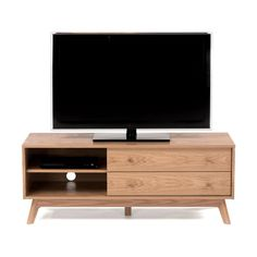 Meuble tv d 39 angle ch ne massif edgar la redoute interieurs prix avis - Meuble tv d angle la redoute ...