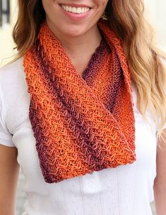 Free Knitting Pattern for Easy One Ball Zig Zag Cowl