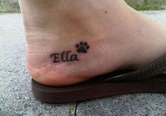 AWE! This was probably for a dog or something, but I call my daughter Ella Bear, this would be perfect :)