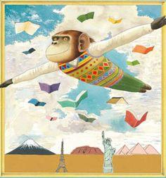 La lectura me da alas para volar… todo lo lejos y alto que quiera (ilustración de Anthony Browne)